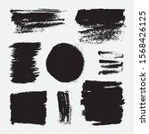 monochrome abstract vector... | Shutterstock .eps vector #1568426125