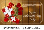 valentines day greetings banner ... | Shutterstock .eps vector #1568436562