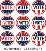 vote and i voted political... | Shutterstock .eps vector #1568454145