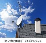 Satellite Dish And Antenna Tv...