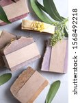 homemade natural organic soap.... | Shutterstock . vector #1568492218