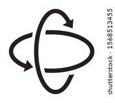 Gyroscope Sign Circle Isolated...