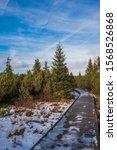 Snowy Path In Jezern  Sla    ...