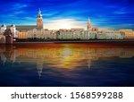 abstract spring sunrise... | Shutterstock . vector #1568599288