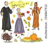 thanksgiving day hand drawn...   Shutterstock .eps vector #156867512