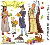 thanksgiving day hand drawn... | Shutterstock .eps vector #156867518