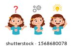 happy cute kid girls search... | Shutterstock .eps vector #1568680078