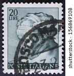 italy   circa 1961 a stamp... | Shutterstock . vector #156869108