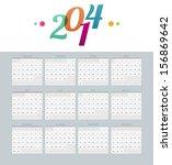 vector illustration of calendar ...   Shutterstock .eps vector #156869642
