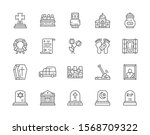 Set Of Funeral Line Icons....