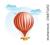 image of the balloon in a strip ... | Shutterstock . vector #156871652