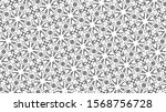 ornament with elements of black ... | Shutterstock . vector #1568756728