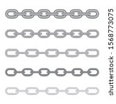 set of different chains... | Shutterstock .eps vector #1568773075