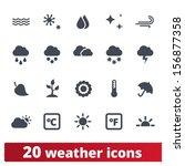 weather icons  vector set of... | Shutterstock .eps vector #156877358