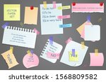 paper notes on stickers ... | Shutterstock .eps vector #1568809582