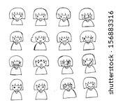 people emotions   in jaidee...   Shutterstock .eps vector #156883316