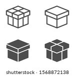 box vector icons isolated on...