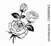 rose motif pattern hand drawn... | Shutterstock .eps vector #156888962