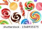 swirl candy  lollipop....   Shutterstock .eps vector #1568935375