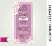 wedding menu  template design... | Shutterstock .eps vector #156895886