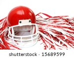 red football helmet and pom... | Shutterstock . vector #15689599
