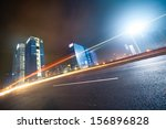 night traffic on the  cityscape ... | Shutterstock . vector #156896828