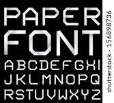 vector paper font. | Shutterstock .eps vector #156898736