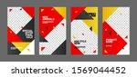 editable post template set for... | Shutterstock .eps vector #1569044452