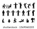 icon man stick figure people... | Shutterstock . vector #1569060205