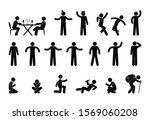 icon man stick figure people...   Shutterstock .eps vector #1569060208