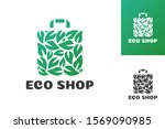 eco shop logo consisting of... | Shutterstock .eps vector #1569090985