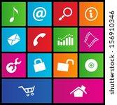 illustration of metro style web ...