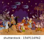 persian frescoes. thousand and... | Shutterstock .eps vector #1569116962