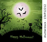 halloween illustration. | Shutterstock .eps vector #156912212