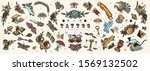 tattoo elements collection. big ... | Shutterstock .eps vector #1569132502