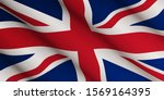 Waving Flag Of United Kingdom....