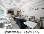 Stock photo new and clean luxury restaurant in european style 156916772