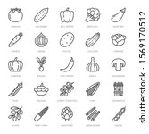 vegetables flat line icons set. ...   Shutterstock .eps vector #1569170512