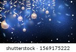 christmas blue background with...   Shutterstock .eps vector #1569175222