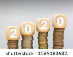 Finance Coins Stack 2020 Wood...