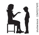 vector silhouette of mother...   Shutterstock .eps vector #1569227695