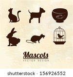 mascots design over pink... | Shutterstock .eps vector #156926552