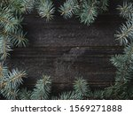 winter and christmas background.... | Shutterstock . vector #1569271888