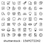 tooth restoration icons set.... | Shutterstock .eps vector #1569272242
