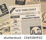 vintage newspaper. retro... | Shutterstock .eps vector #1569284932