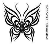 vector butterfly | Shutterstock .eps vector #156929648