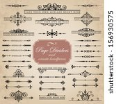 page dividers and ornate... | Shutterstock .eps vector #156930575