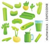 celery icons set. cartoon set...   Shutterstock .eps vector #1569310048
