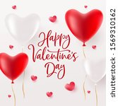 happy valentines day greeting... | Shutterstock .eps vector #1569310162