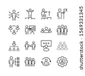 set of flat icons with people... | Shutterstock .eps vector #1569331345